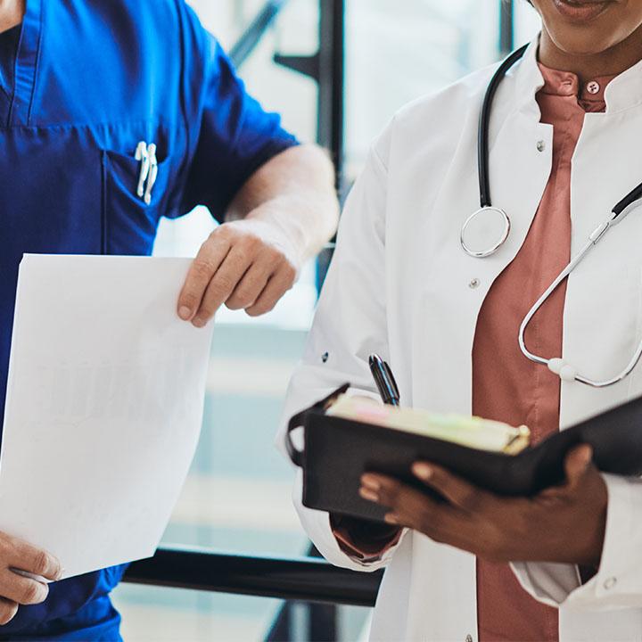 病院組織の代表的な部門